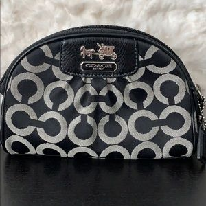Coach cosmetic makeup case small clutch